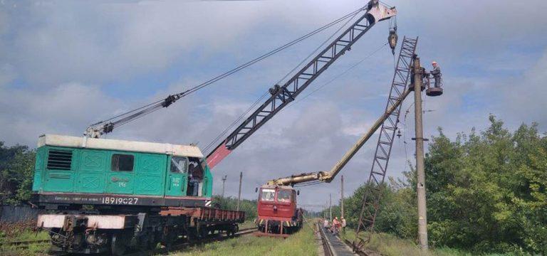 работы по восстановлению электрификации и инфраструктуры